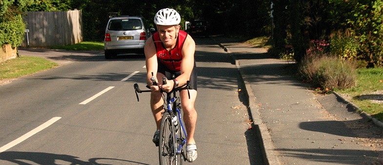 Andy Ridout preparing for an Ironman