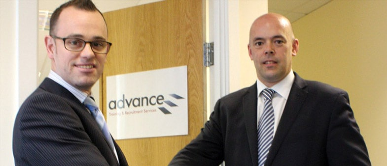 New operations director, Paul Merton shakes hands with managing director, Andy Ridout.